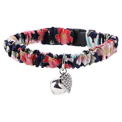 Smandy Hundehalsband Ethno Muster Katzenhalsband Elastische Hunde Halsbänder Verstellbare Halsbänder mit Metallglocke für Katzen(Schwarz)
