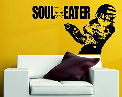 Wall Vinyl Decals Soul Eater Death The Kid Manga Cartoon Decorative Vinyl Wall Sticker Decal Anime Made in USA