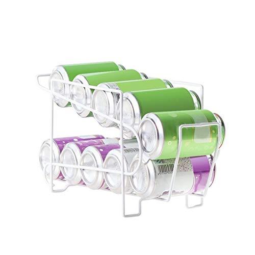 Suszian - Porta lattine Doppio per Frigorifero, Design a Due Strati, con rotelle