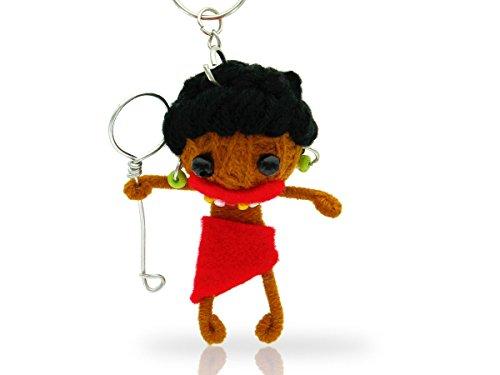 Alsino Voodoo Puppe Püppchen Sorgenpüppchen Voodoopuppe Glücksbringer Voodoll Schlüsselanhänger, wählen:SA-V167 Ureinwohner