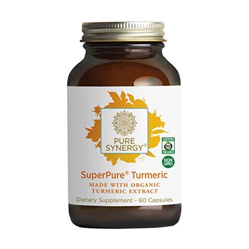 Pure Synergy Usda Organic Superpure Turmeric Extract (60 Capsules) Triple Extract W/Curcumin, Turmerones