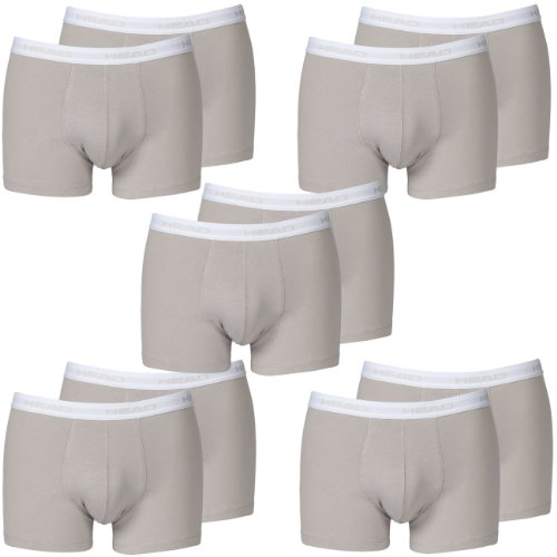 HEAD Men Boxershort 841001001-400 Basic Boxer 10er Pack grey