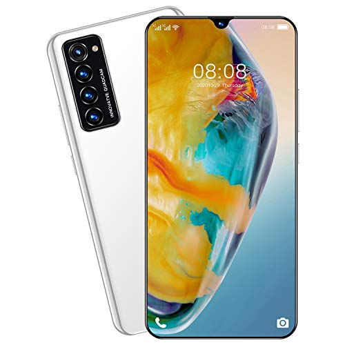 Rimo8 4G / 5G Android Smartphone 7.1'Water-Drop Screen Unicom Releases Memory 12gb + 512gb Chip mtk6889m 8core / 10core Android 10 Batería 5600mAh Cámara 32MP+48MP (Blanco)