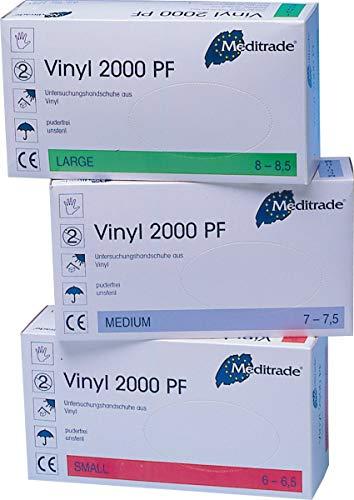 Vinyl, Untersuchungs - Einmalhandschuh, Größe M (1x100 Stück)