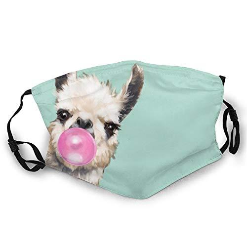 Verstellbarer Mundschutz, Lama, Blasen, Gummi, Anti-Staub, Erwachsene, winddicht, halbes Gesicht, für Männer und Frauen