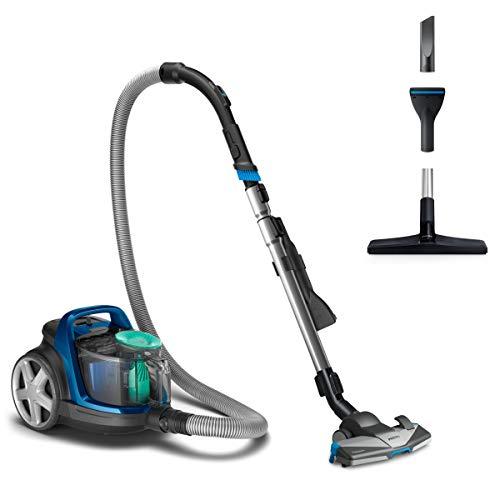 Philips Aspirador sin Bolsa FC9552/09 - Aspiradora de hogar con Filtro de alergia, tecnología PowerCyclone 7, Cepillo TriActive+ y diseño Compacto