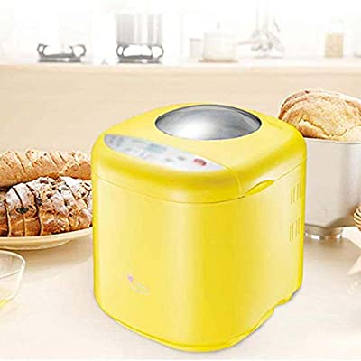 ZNSBH 220V Bread Maker Machine, Automatic Bread Machine with Nut Dispenser Bread Maker with 10 Programmes Cooking Breadmaker Nonstick Ceramic Pan 3 Loaf Sizes & 3 Colors Gluten Free Whole Wheat