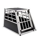 WarmieHomy Heavy Duty Dog Carrier Alumium Dog Cat Crate Lockable Car Travel Transport Box Pet Kennel, 21.26' L x 27.17' W x 19.69' H