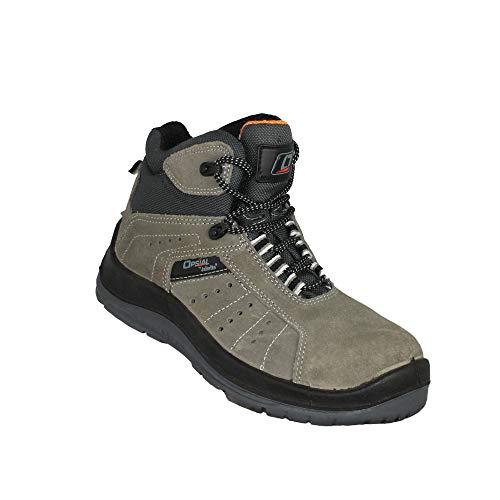 Opsial Step Doc S1P SRC Trekkingschuhe Sicherheitsschuhe hoch Grau, Größe:43 EU