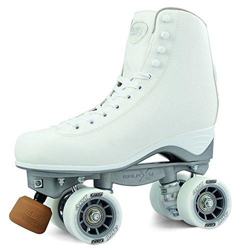 Crazy Skates Celebrity Art Series Rhythm Rollschuhe   Classic weiß künstlerischen Quad Skate Style, weiß, Men 3.5 / Ladies 4