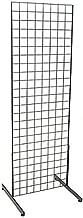 Only Garment Racks #1900B(1) + #1918B(1PR.) Grid Unit, 2' x 6' with Legs, Black