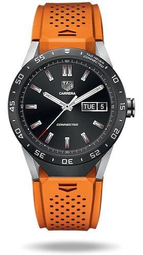 "Luxus-Smartwatch (Android / iPhone) ""Connected"" von TAG Heuer, orange"