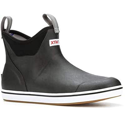 """Xtratuf Performance Series 6"""" Men's Full Rubber Ankle Deck Boots, Black (22736)(8)"""