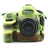 Professional Secure Silicone Camera Cases Bag Housing Rubber Body Skin for Nikon D850 Full Frame FX-Format Digital SLR Camera (Green)