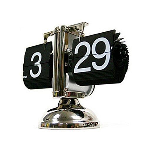 Clásica creativa flip reloj de campana Auto flip reloj pequeño saldo en un pie Xagoo (black)