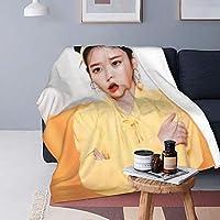 "La Meack Iu 毛布と毛布(縦)、空調毛布、空調はピリング防止フランネルでできており、より快適で暖かいです。 洗濯機と手洗い、速乾性、お手入れが簡単、耐久性、漂白剤を使用しないでください。80""X60"""
