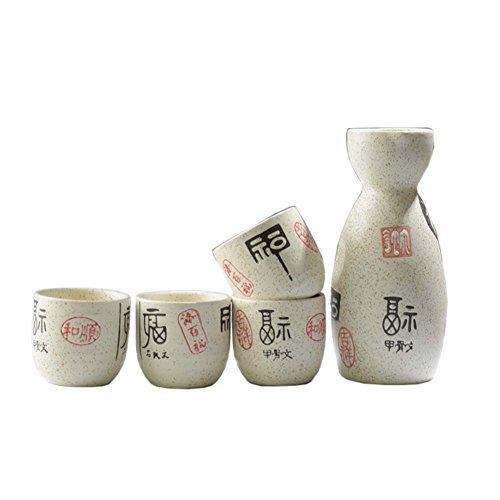 Fancy Pumpkin Tazas de cerámica Japonesa Sake Bottle Sets Sake Flask para Sushi Bar, 08