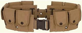 Ultimate Arms Gear Tactical Khaki Tan, Utility Pouch, Cartridge Ammo Tool, Heavy Duty Cotton Canvas Belt