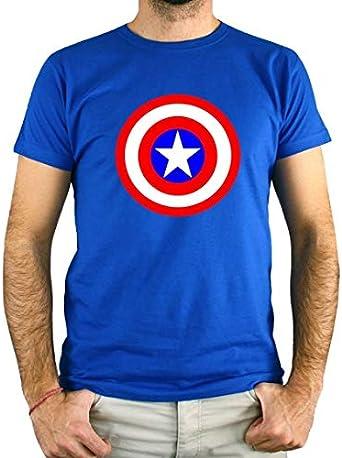 PLANETACAMISETA Camiseta Hombre - Unisex Capitán América ...