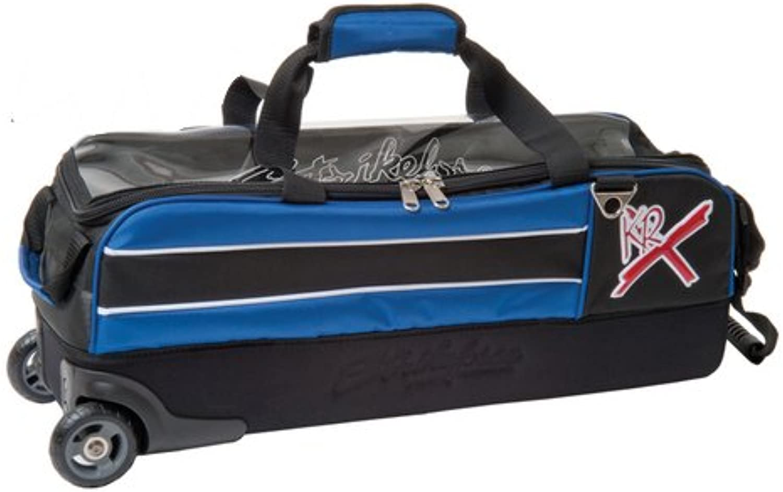 (Royal)  KR Strikeforce Bowling Royal Flush Slim Triple Bowling Ball Roller Bag