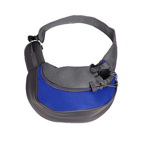 WOIA Travel Pet Puppy Dog Carrier Mochila Tote Bandolera Mesh Sling Carry Pack, Azul Oscuro, S