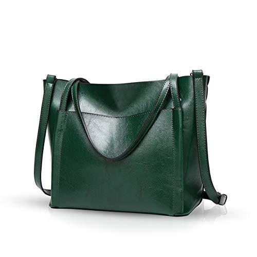 NICOLE & DORIS Neue Handtaschen für Frauen Tote Handtaschen chic Umhängetaschen große Kapazität Grün