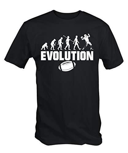 6TN Herren Evolution des American Football T-Shirt - Schwarz, XX-Large