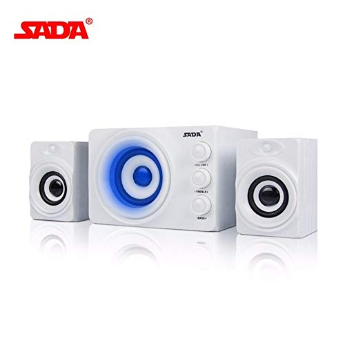 Fantastic Prices! SADA D-206 PC Computer Speaker 3 Horn Mobile Phone Laptop Desktop Speakers DC 5V S...