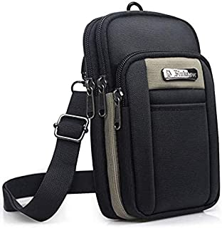 SPAHER Small Men Side Bag Shoulder Bag Outdoor Sports Hiking Waist Pack Crossbody Tactical MOLLE EDC Cellphone Pouch Belt ...