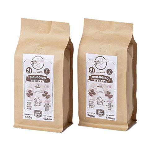 Caffè Europa - Caffè in Grani Biologico, Vegano e Gluten Free, Tostatura Artigianale (2x500g)