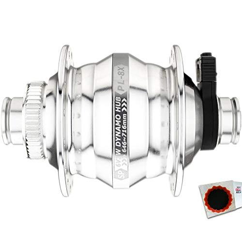 Shutter Precision Nabendynamo PL-8X-M 36L. 15mm Silber +Flicken