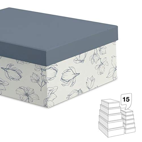 Caja Carton Juego 15 Unidades Shades of Flora 55 cm