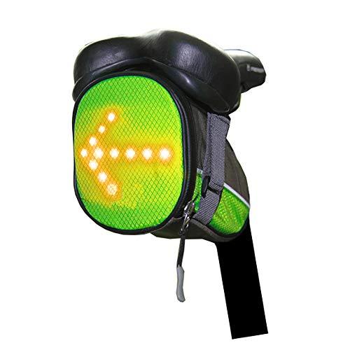 SACOCHES De Selle Vélo, Indicateur LED sous Le Siège Pack Imperméable De Vélo Vélo en Plein Air Clignotants Selle Sac De Selle Télécommande