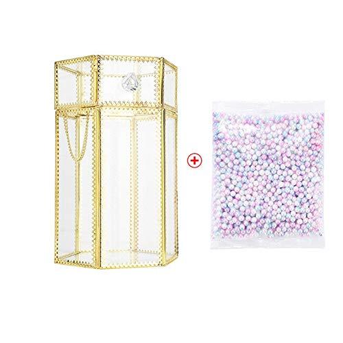 Rinder Porte-pinceaux de maquillage en verre avec perle colorée