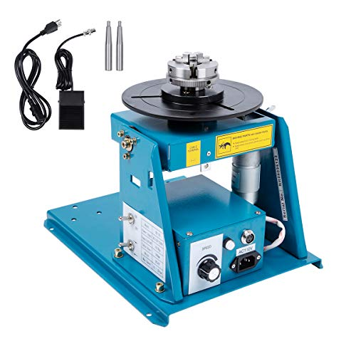 Turntable, TBVECHI, Rotary Welding Positioner Turntable Table 370 270 215mm, BY series Light Positioner