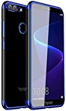 WPRIE Huawei Honor 9 Lite Cover Electroplating Shining Ultra Thin Soft Silicone Transparent TPU Back Case Cover or Honor 9 Lite/Honor 9 Lite / 9 Lite (Electric Blue)