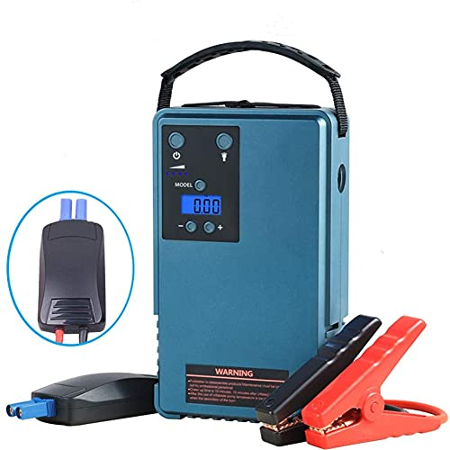 Compresor de aire portátil con arrancador para automóvil, mini inflador de neumáticos digital, bomba de compresor de aire de 10200 mah con luz LED, corriente de salida máxima de 500 A, para automóvil
