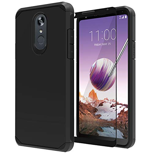 LG Stylo 4 Case, LG Stylo 4 Plus Case with Tempered Glass Screen...