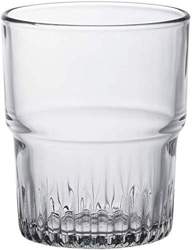 Duralex Empilable copa de agua 200ml, apilable, sin la marca de llenado, 6 vidrio