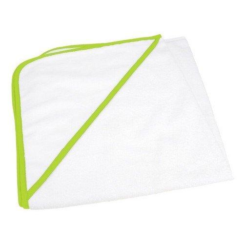 A&R Towels - Babiezz- Asciugamano con cappuccio personalizzabile - Neonati/Bambini (Taglia unica) (Bianco/Lime)
