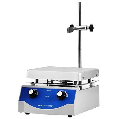 VEVOR Mezclador Magnético 3000 ml Agitador Magnético con Placa Calefactora Velocidad de 1.600 rpm Ajustable Agitador Magnético Laboratorio 17 x 17 cm 500 W SH-3 para Bioquímica, Agricultura, Medicina