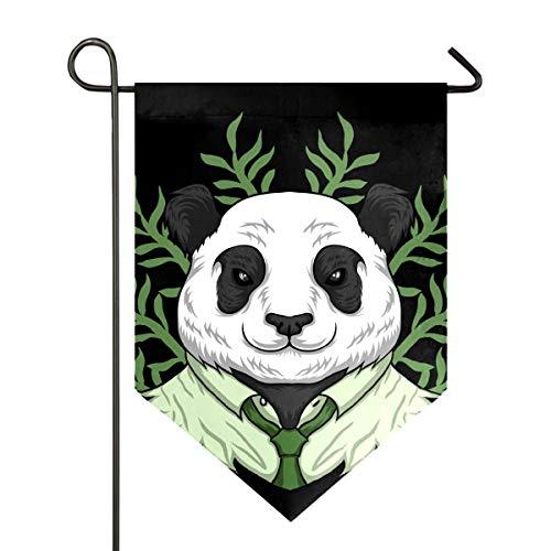 Amonka Niedlicher, lustiger Panda beim Tragen von Arbeitskleidung, Gartenflagge, doppelseitig, Polyester, Hof-Flagge für Zuhause, Haus, Außendekoration, 30,5 x 47 cm, Polyester, multi, 12x18.5 Inch