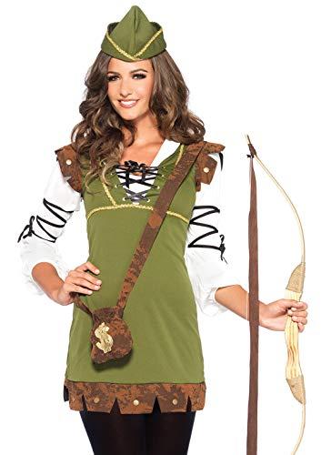 Leg Avenue 85366 - Klassische Robin Hood Damen kostüm , Größe S/M  (EUR 36-38) Damen Karneval Kostüm Fasching