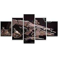 Whoops 5 Pistolas de avión Equipo militar Pintura Artista Residencia Decoración Pintura Lienzo Pintura al óleo Sala de estar30 * 40 * 2 30 * 60 * 2 30 * 80Cm Sin marco
