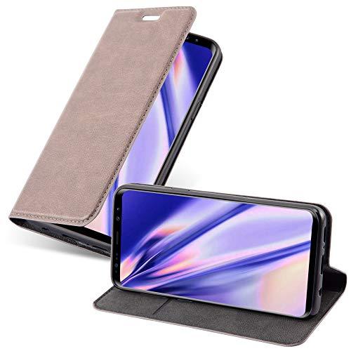 Cadorabo Hülle für Samsung Galaxy S9 - Hülle in Kaffee BRAUN – Handyhülle mit Magnetverschluss, Standfunktion & Kartenfach - Case Cover Schutzhülle Etui Tasche Book Klapp Style