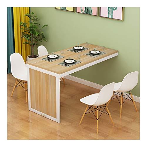 Sencilla Mesa Plegable de Pared Cocina Comedor Consola de Mesa de luz Color Nogal Suelo de Escritorio de computadora de Escritorio Plegable Desk (Size : 100 * 40 * 75cm)