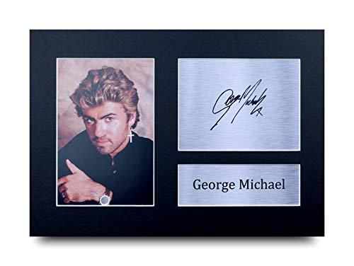 HWC Trading George Michael A4 Ungerahmt Signiert Gedruckt Autogramme Bild Druck-Fotoanzeige Geschenk Für Musik-Fans