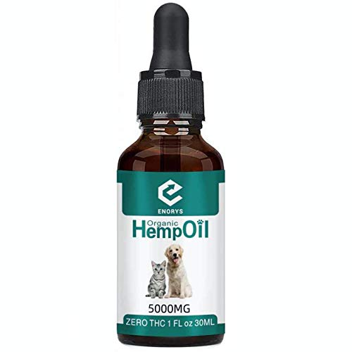 Enorys Hemp Oil for Dogs, Cats and Pets. High Strength, 30ml bottle, 100% Natural Hemp Seed Oil – Helps with Anxiety and Stress Relief – Healthy Joints and Coat – Rich in Nutrients