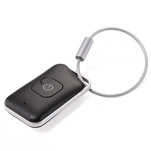 TROIKA selfmate - KR15-03/BK Schlüsselfinder - Schlüsselanhänger mit Schlüssel-/Smartphonefinder - App-gesteuert - Bluetooth® 4.0 - Selfieauslöser - Kunststoff - schwarz- Troika-Original