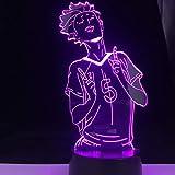 Lampe de table 3D en acrylique avec personnage d'attaque Multicolore